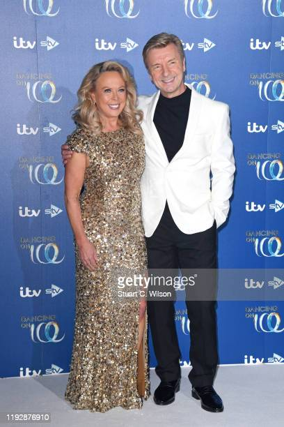 Jayne Torvill and Christopher Dean during the Dancing On Ice 2019 photocall at ITV Studios on December 09, 2019 in London, England.