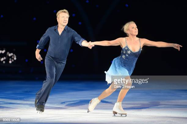 Jayne Torvill and Christopher Dean during the Dancing on Ice Live Tour - Dress Rehearsal at Wembley Arena on March 22, 2018 in London, England.The...