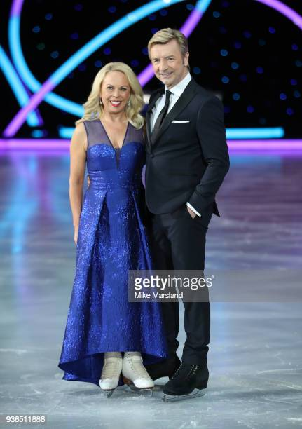 Jayne Torvill and Christopher Dean during the Dancing On Ice Live UK Tour launch at The SSE Arena Wembley on March 22 2018 in London England