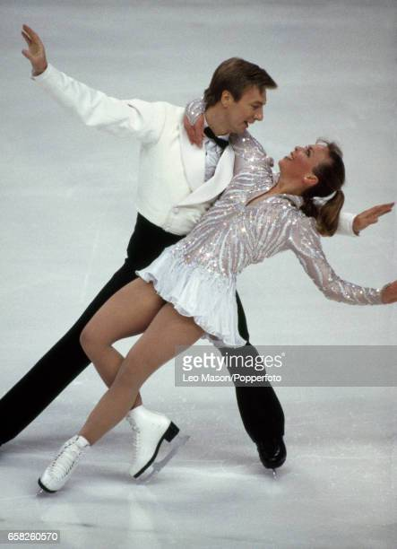 Jayne Torvill and Christopher Dean enroute to winning the British Ice Dancing Championship in Sheffield circa 1994
