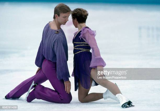Jayne Torvill and Christopher Dean enroute to winning the bronze medal in the ice dancing competition during the Winter Olympic Games in Lillehammer...