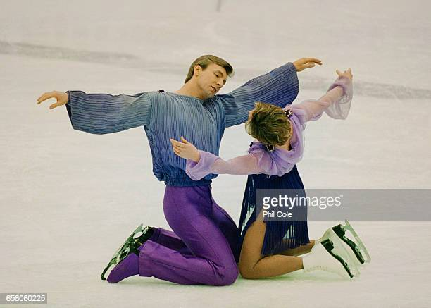 Jayne Torvill and Christopher Dean of Great Britain perform their Bolero routine in the Mixed Ice Dancing for the Ice Skating Gala on 22 February...