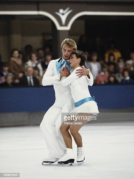 Jayne Torvill and Christopher Dean of Great Britain performing their Barnum ice dance routine on 2nd February 1983 at the Richmond Theatre in...