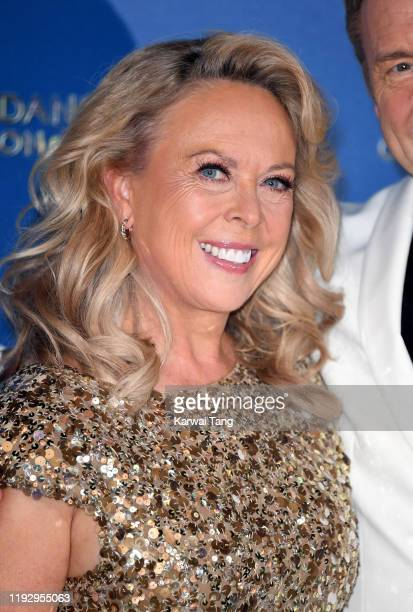 Jayne Torvill attends the Dancing On Ice 2019 photocall at the Dancing On Ice Studio, ITV Studios, Old Bovingdon Airfield on December 09, 2019 in...