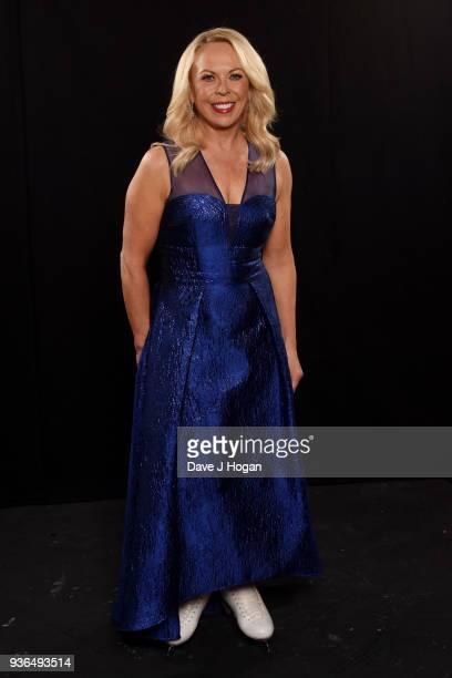 Jayne Torvill attends the press launch photocall for the Dancing on Ice Live Tour at Wembley Arena on March 22 2018 in London England The tour kicks...