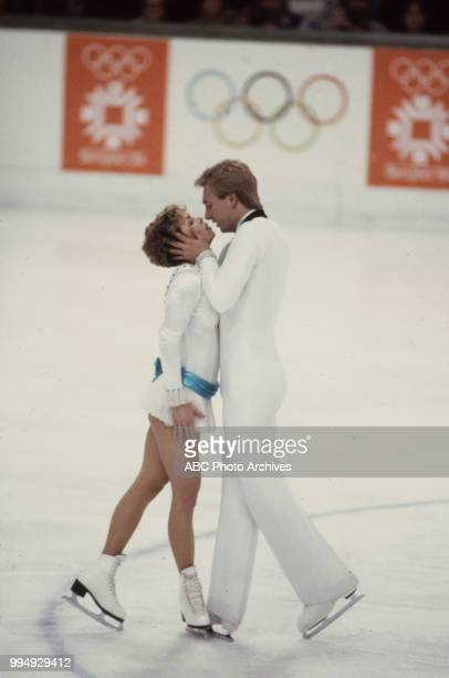 Jayne Torvill Christopher Dean in the ice dancing competition at the 1984 Winter Olympics / XIV Olympic Winter Games Zetra Ice Hall
