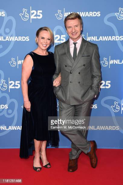 Jayne Torvill OBE and Christopher Dean OBE attend the BBC1's National Lottery Awards 2019 at BBC Television Centre on October 15, 2019 in London,...