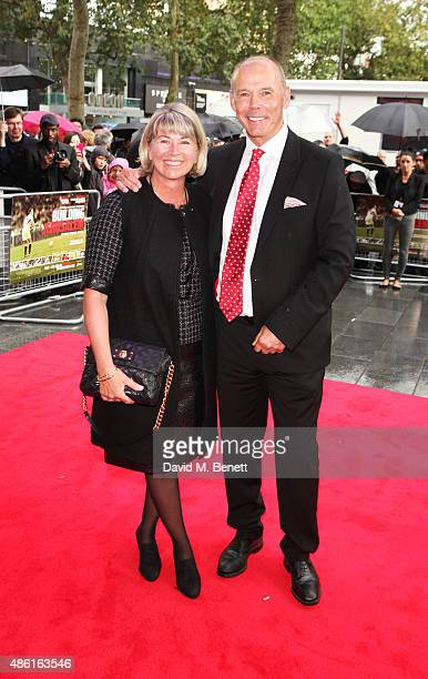 Jayne Williams and Sir Clive Woodward attend the World Premiere of 'Building Jerusalem' at the Empire Leicester Square on September 1 2015 in London...
