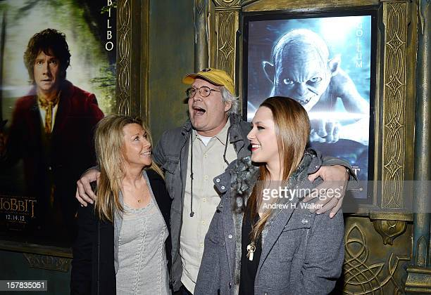 Jayni Chase Chevy Chase and Cydney Cathalene Chase attend The Hobbit An Unexpected Journey New York premiere benefiting AFI at Ziegfeld Theater on...