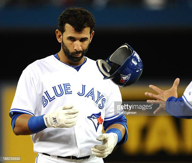 Jays Orioles Jays Jose Bautista less than happy after being thrown out at first base RICK EGLINTON/TORONTO STAR