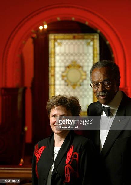 JAYS06/06/02Lincoln Alexander presented the first Law Society of Upper Canada award in his name to lawyer Jean Teillet in Toronto June 6 2002 Jean...