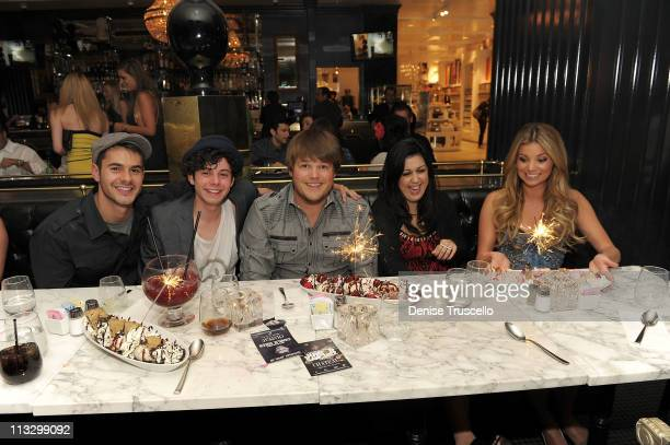 Jayson Blair Paul Iacono Jareb Dauplaise Kara Taitz and Amber Lancaster attend Sugar Factory American Brasserie on April 30 2011 in Las Vegas Nevada