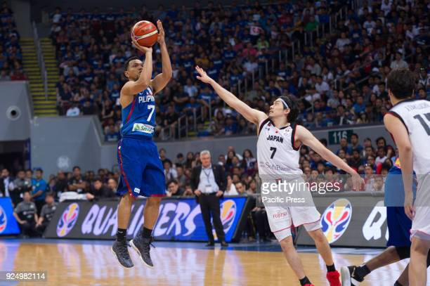Jayson Castro William of Gilas Pilipinas on his pull up jumper against R Shinoyama of Akatsuki Japan Jayson Castro William finished the game with 8...