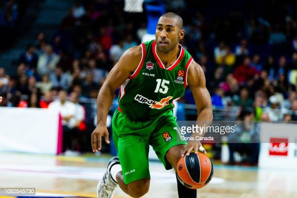 Jayson Granger #15 forward of Kirolbet Baskonia during the 2018/2019 Turkish Airlines Euroleague Regular Season Round 27 game between Real Madrid and...