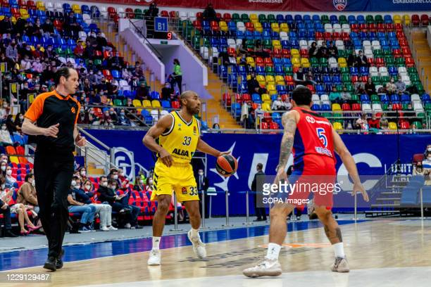 Jayson Granger #33 of Alba Berlin in action against CSKA Moscow during the Turkish Airlines EuroLeague Round 4 of 20202021 season at the Megasport...