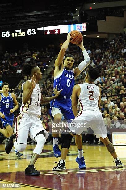779649a0d Jayson Tatum forward Duke University Blue Devils jumps wuth the basketball  against Braian AngolaRodas guard and