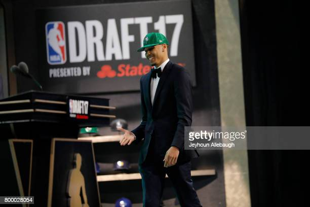 Jayson Tatum is selected third overall by the Boston Celtics at the 2017 NBA Draft on June 22 2017 at Barclays Center in Brooklyn New York NOTE TO...