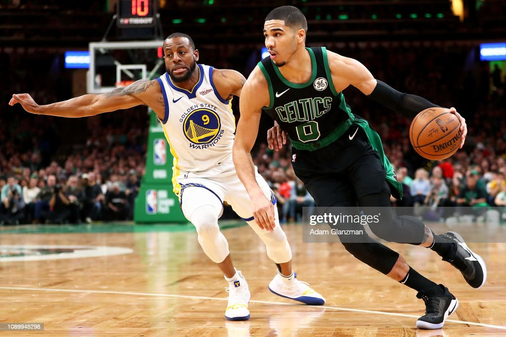 Image result for celtics warriors tatum