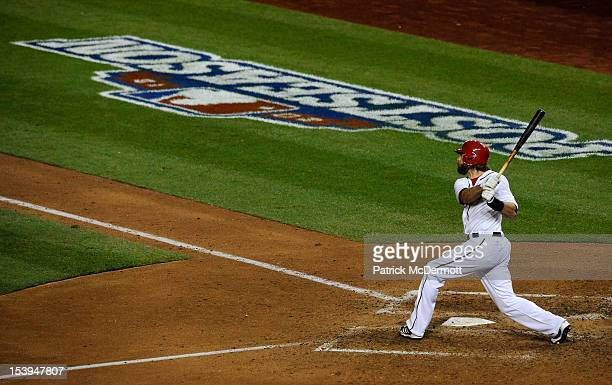 Jayson Werth of the Washington Nationals hits a solo gamewinning walkoff home run in the bottom of the ninth inning against the St Louis Cardinals...
