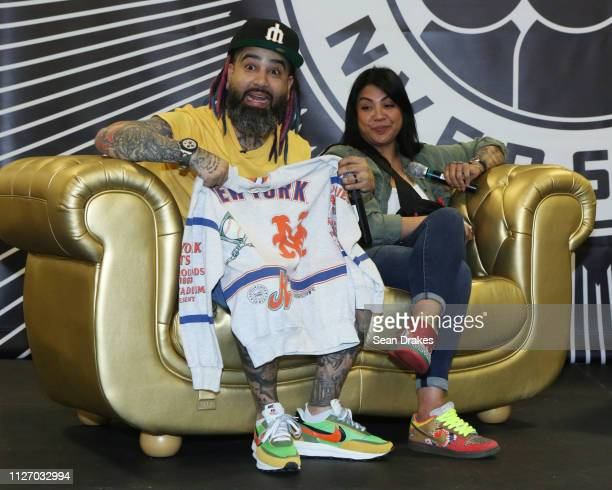 Jaysse Lopez and Joanie Lopez owners of Urban Necessities participate in a panel conversation during SneakerCon 2019 at Fort Lauderdale Convention...
