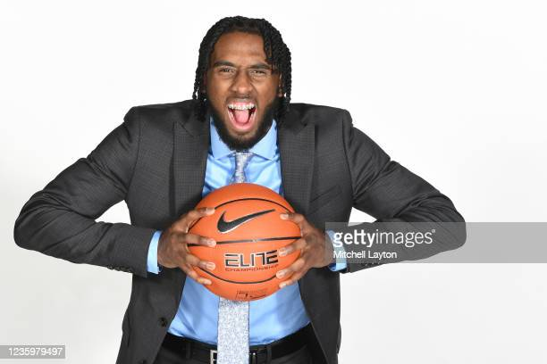 Jayvon Freeman-Liberty of the DePaul Blue Demons poses for a photo during the Big East Media Day at Madison Square Garden on October 19, 2021 in New...