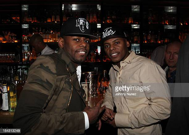 Jayvon Smith and Tyran Ty Ty Smith attend NeYo's Birthday Dinner at Acme on October 17 2012 in New York City