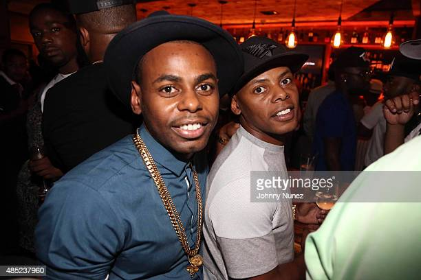 Jayvon Smith and Tyran 'Ty Ty' Smith attend the Manhattan Brew Vine Grand Opening at Manhattan Brew Vine on August 25 in New York City