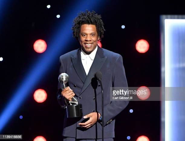 Jay-Z accepts the President's Award onstage at the 50th NAACP Image Awards at Dolby Theatre on March 30, 2019 in Hollywood, California.