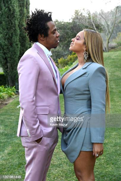 Jay-Z and Beyoncé attend 2020 Roc Nation THE BRUNCH on January 25, 2020 in Los Angeles, California.