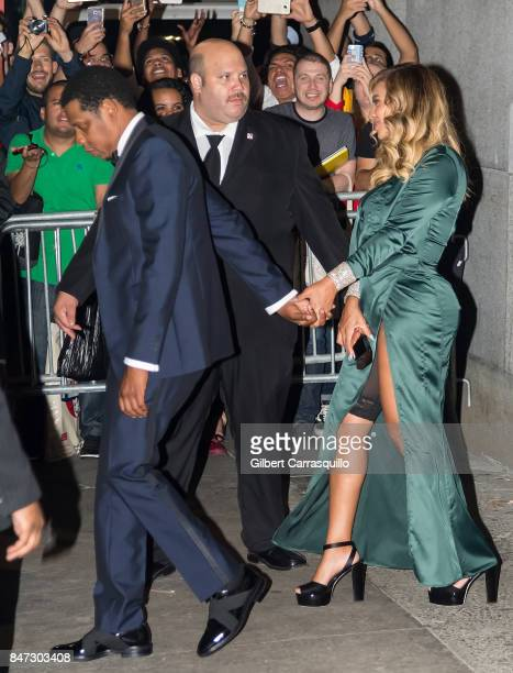 JayZ and Beyonce are seen leaving Rihanna's 3rd Annual Diamond Ball Benefitting The Clara Lionel Foundation at Cipriani Wall Street on September 14...