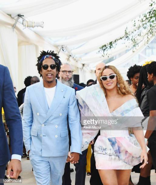 Jay-Z and Beyonce attend 2019 Roc Nation THE BRUNCH on February 9, 2019 in Los Angeles, California.
