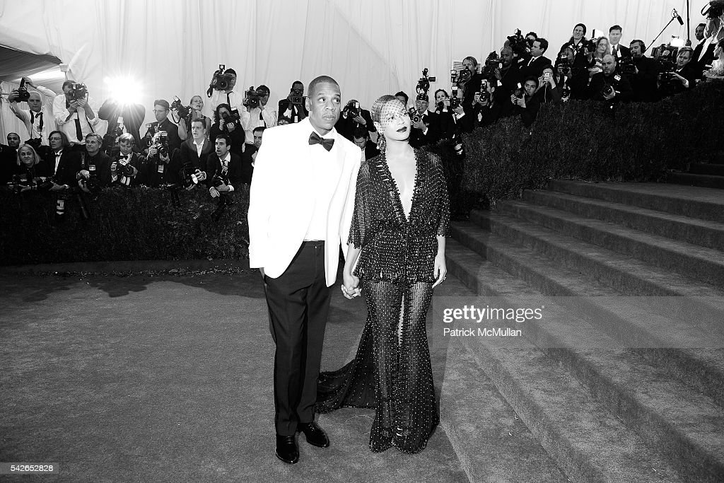 Jay-Z and Beyonce attend Costume Institute Benefit at Metropolitan Museum Celebrates Opening of Charles James Exhibition and New Anna Wintour Costume Center Space at Metropolitan Museum of Art on May 5, 2014 in New York City.