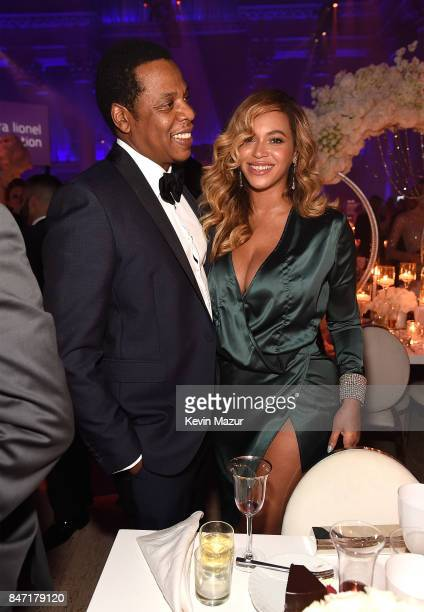 JayZ and Beyonce attend Rihanna's 3rd Annual Diamond Ball Benefitting The Clara Lionel Foundation at Cipriani Wall Street on September 14 2017 in New...