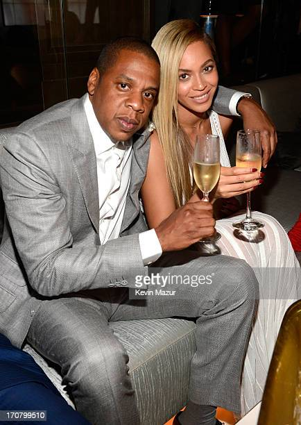 JayZ and Beyonce attend The 40/40 Club 10 Year Anniversary Party at 40 / 40 Club on June 17 2013 in New York City