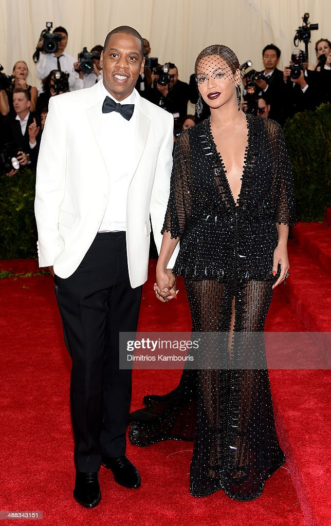 Jay-Z and Beyonce attend the 'Charles James: Beyond Fashion' Costume Institute Gala at the Metropolitan Museum of Art on May 5, 2014 in New York City.