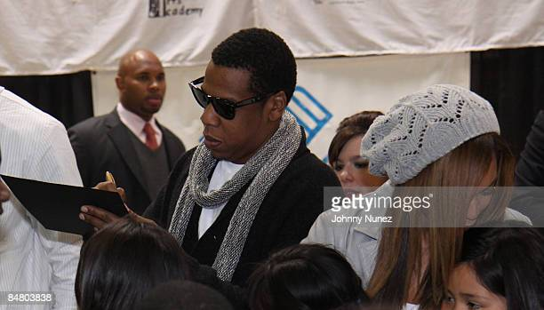 JayZ and Beyonce attend the Sprite Green Instrument Donation on February 14 2009 in Mesa Arizona