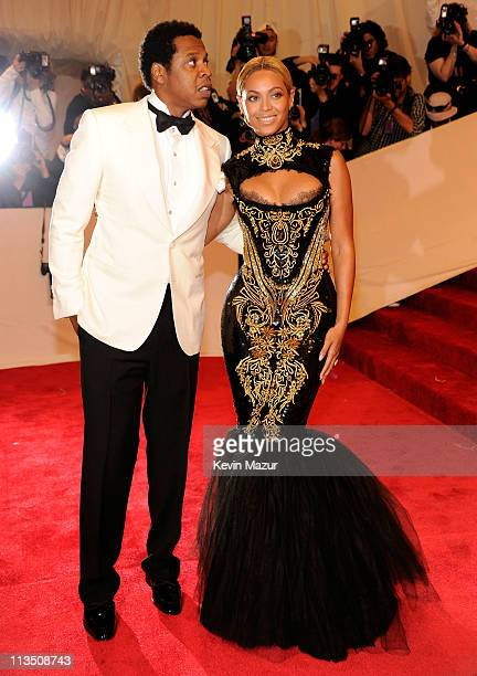 JayZ and Beyonce attends the Alexander McQueen Savage Beauty Costume Institute Gala at The Metropolitan Museum of Art on May 2 2011 in New York City