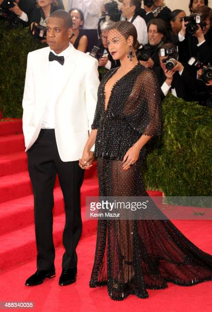 JayZ and Beyonce attends the 'Charles James Beyond Fashion' Costume Institute Gala at the Metropolitan Museum of Art on May 5 2014 in New York City