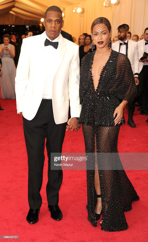 Jay-Z and Beyonce attends the 'Charles James: Beyond Fashion' Costume Institute Gala at the Metropolitan Museum of Art on May 5, 2014 in New York City.