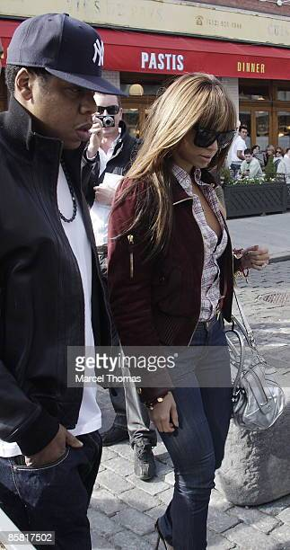 JayZ and Beyonce Knowles are seen on the streets of Manhattan on April 5 2009 in New York City