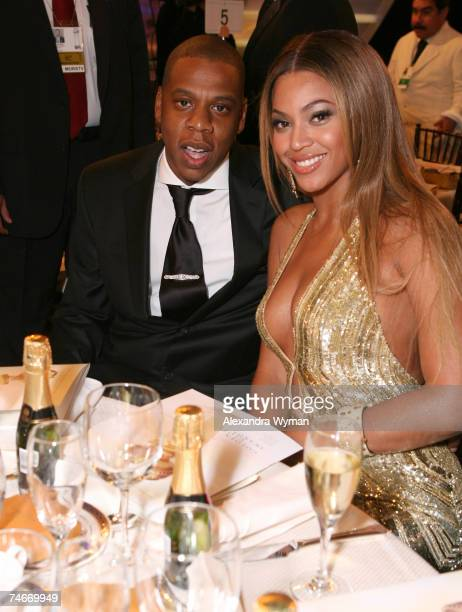 JayZ and Beyonce Knowles at the Beverly Hilton in Beverly Hills California