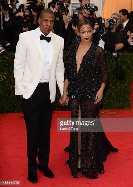 JayZ and Beyonce Knowles attend the Charles James Beyond Fashion Costume Institute Gala held at the Metropolitan Museum of Art on May 5 2014 in New...