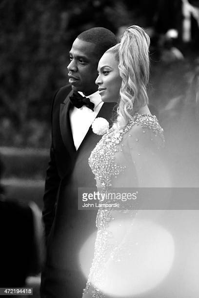 JayZ and Beyonce Knowles attend the China Through The Looking Glass Costume Institute Benefit Gala at Metropolitan Museum of Art on May 4 2015 in New...