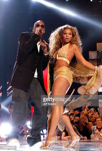 JayZ and Beyonce Knowles during 2003 MTV Video Music Awards Show at Radio City Music Hall in New York City New York United States