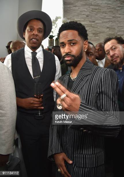 JayZ and Big Sean attend Roc Nation THE BRUNCH at One World Observatory on January 27 2018 in New York City