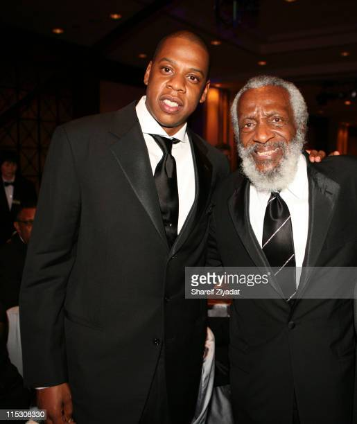 JayZ and Dick Gregory during Radio One's 25th Anniversary Awards Dinner Gala at JW Marriot in Washington DC United States