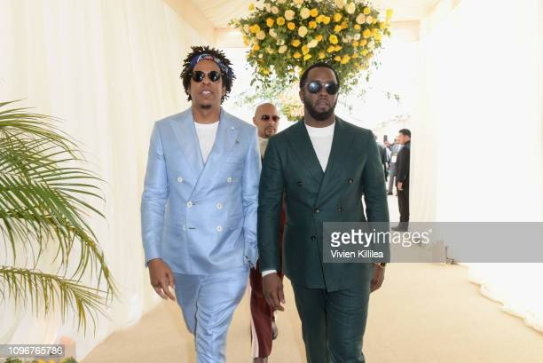 Jay-Z and Diddy attend 2019 Roc Nation THE BRUNCH on February 9, 2019 in Los Angeles, California.