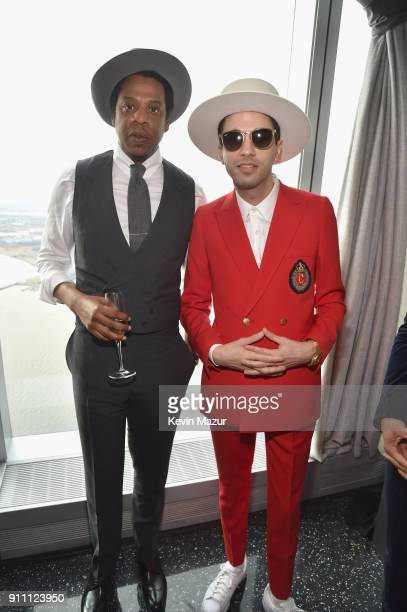 JayZ and DJ Cassidy attend Roc Nation THE BRUNCH at One World Observatory on January 27 2018 in New York City