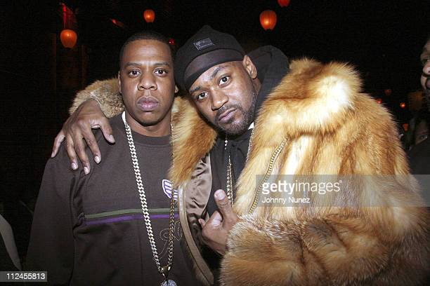 JayZ and Ghostface Killah during NeYo Album PreRelease Party February 27 2006 at Hiro in New York City New York United States