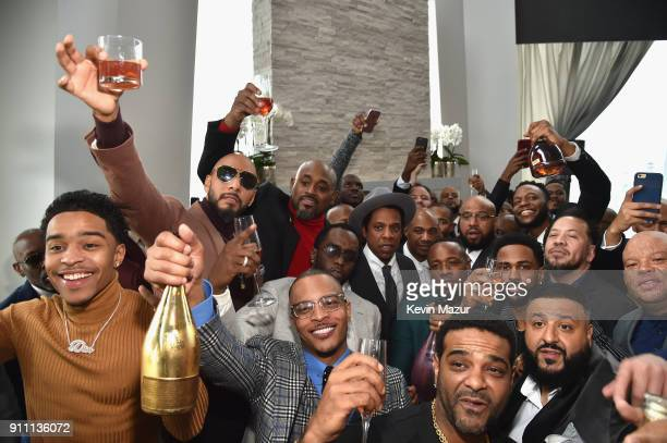 JayZ and guests attend Roc Nation THE BRUNCH at One World Observatory on January 27 2018 in New York City